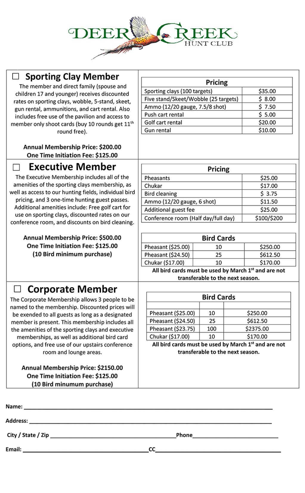 2018 2019 Membership Sheet